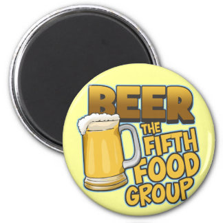 Beer: The Fifth Food Group T-Shirts & Gifts 2 Inch Round Magnet