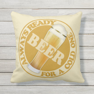 BEER throw pillows