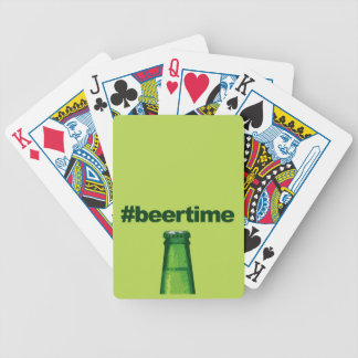 Beer Time Bicycle Playing Cards