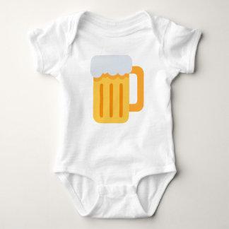Beer time emoji baby bodysuit