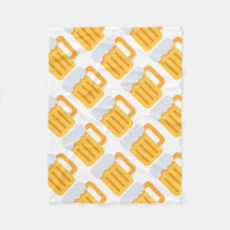 Beer time emoji fleece blanket