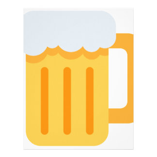 Beer time emoji letterhead