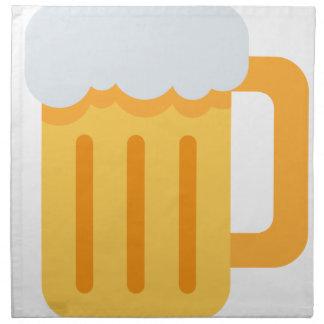 Beer time emoji napkin