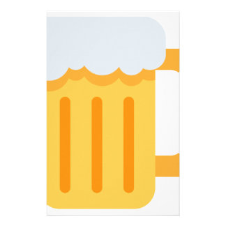 Beer time emoji stationery
