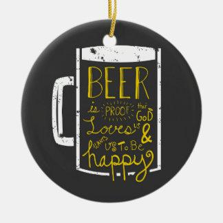 Beer Wisdom Ceramic Ornament