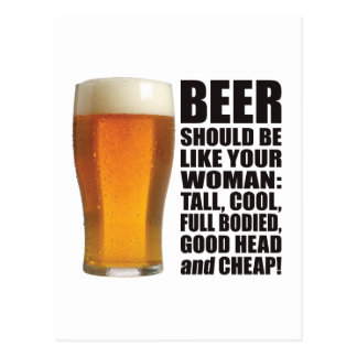 Beer Woman Postcard