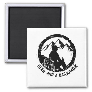 BeerAndaBackpack Beer Fridge Magnet