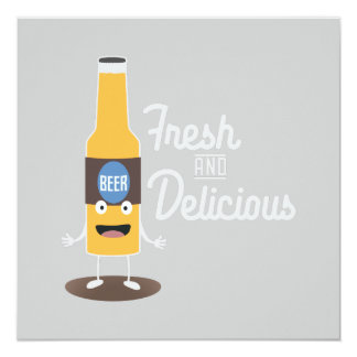 Beerbottle fresh and delicious Zdm8l Card