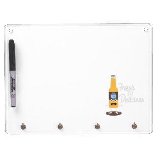 Beerbottle fresh and delicious Zdm8l Dry Erase Board With Keychain Holder