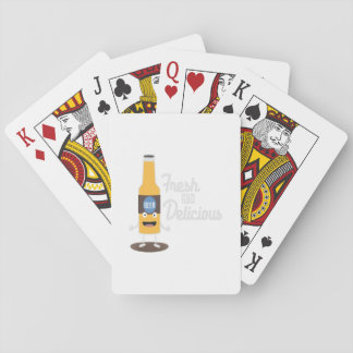 Beerbottle fresh and delicious Zdm8l Playing Cards