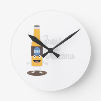 Beerbottle fresh and delicious Zdm8l Round Clock