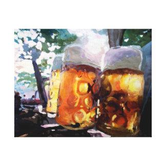 Beergarden dans le jardin anglais toiles tendues