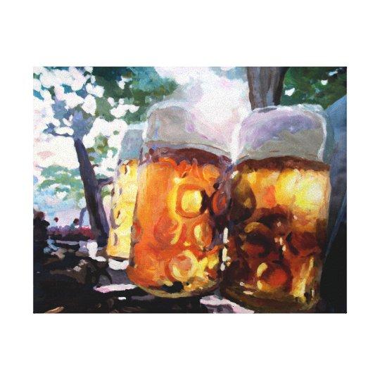 Beergarden in English Garden Canvas Print