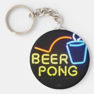 beerpong basic round button keychain