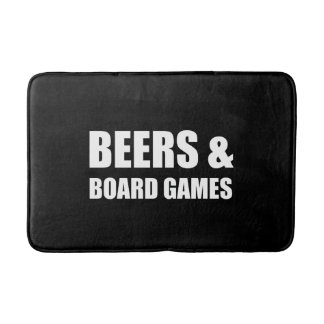 Beers And Board Games Bath Mat