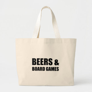 Beers And Board Games Large Tote Bag