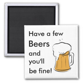 Beers Square Magnet