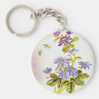 Bees and Flowers Keychain