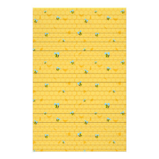Bees and Honeycomb Lined Stationery