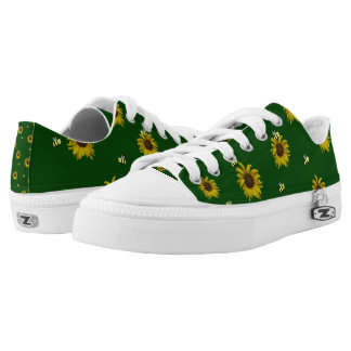 Bees and Sunflowers Low-Top Sneakers