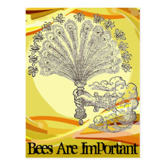Bees Are Important Postcard