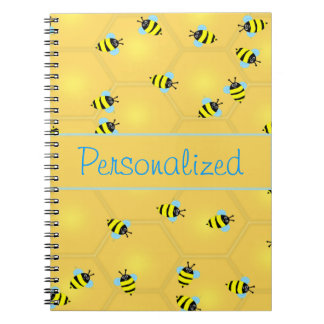 Bees Buzzing Spiral Note Book