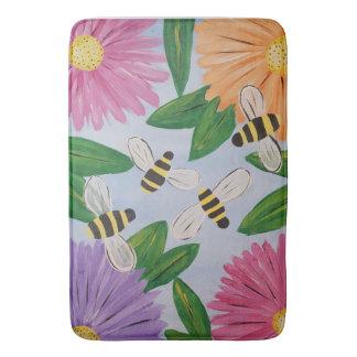 Bees & Flowers Bath Mat