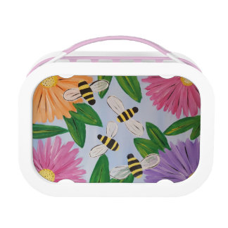 Bees & Flowers Lunch Box