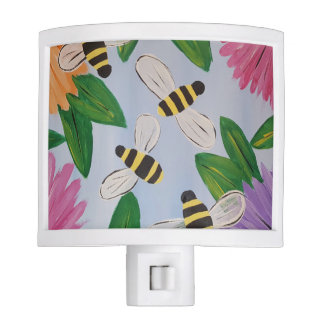 Bees & Flowers Night Light