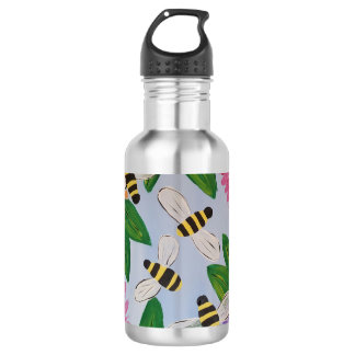 Bees & Flowers Water Bottle