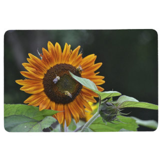 Bees Love Sunflowers Floor Mat