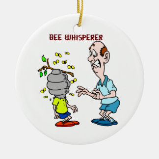 Bees Lovers Bee Whisperer Bumblebee Ceramic Ornament