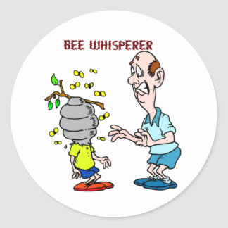 Bees Lovers Bee Whisperer Bumblebee Classic Round Sticker