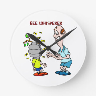 Bees Lovers Bee Whisperer Bumblebee Round Clock