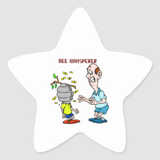 Bees Lovers Bee Whisperer Bumblebee Star Sticker