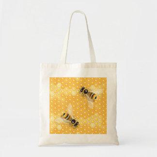 Bees On Honeycombs Tote Bag