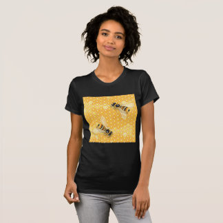 Bees On Honeycombs Womens T-Shirt