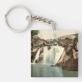 Beesley Falls, Ingleton, Yorkshire, England Double-Sided Square Acrylic Keychain
