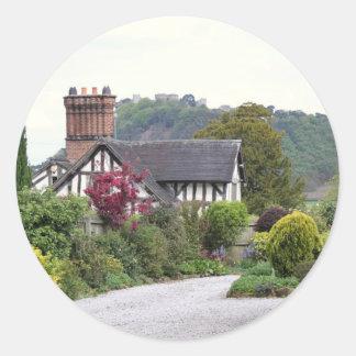 Beeston Castle View Classic Round Sticker