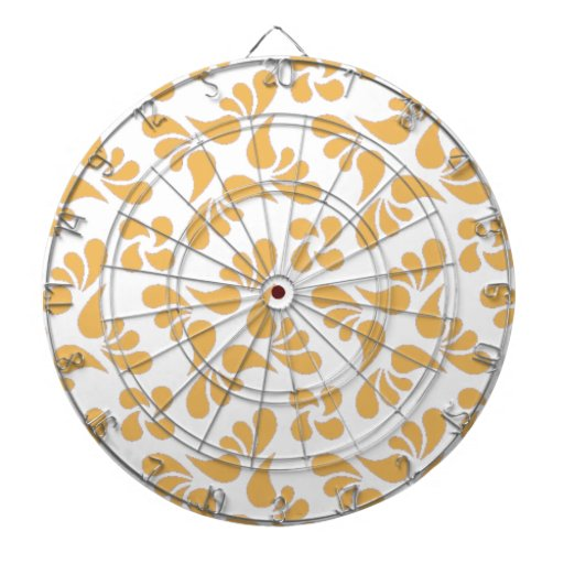 Beeswax Color And White Graphic Art Pattern Dartboard With Darts
