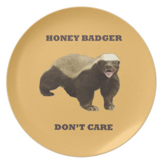 Beeswax Color Honey Badger Dont Care Party Plates