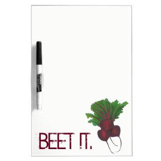 Beet (Beat) It Funny Red Beets Vegetable Foodie Dry Erase Board
