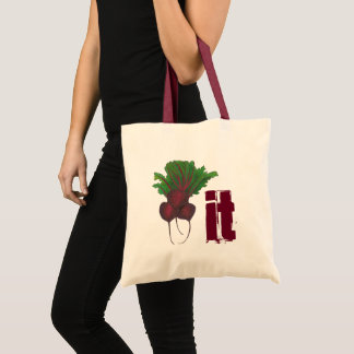 Beet (Beat) It Funny Red Beets Vegetable Foodie Tote Bag