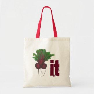 Beet (Beat) It Funny Red Beets Vegetable Foodie Tote Bag