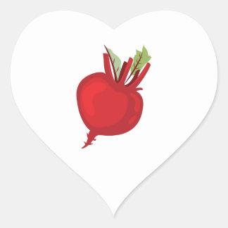 Beet Heart Base Heart Sticker