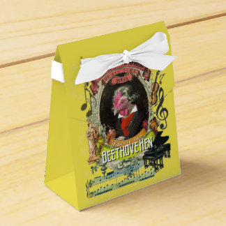 Beethovehen Great Animal Composer Beethoven Hen Favor Box