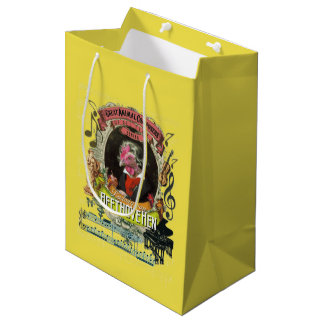 Beethovehen Great Animal Composer Beethoven Medium Gift Bag