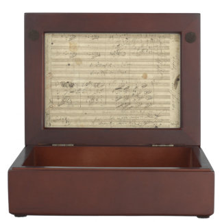 Beethoven 9th Symphony, Music Manuscript Keepsake Box