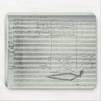 Beethoven 9th Symphony, Music Manuscript Mouse Pad
