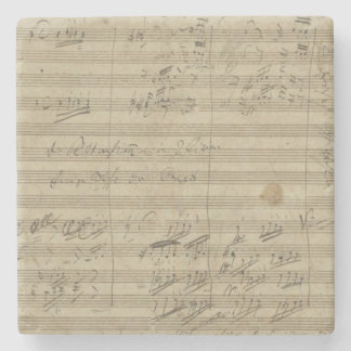 Beethoven 9th Symphony, Music Manuscript Stone Coaster